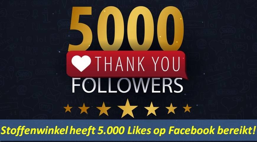 5.000 likes op Facebook
