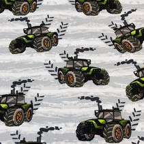 Tricot French Terry Cool Boys tractor ecru