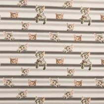 Tricot stof QjuTie digitaal bedrukt cats on line katoen jersey