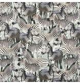 Qjutie Kids Collection Tricot stof QjuTie digitaal bedrukt zebra katoen jersey 155 cm breed