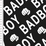 Mutsaers Textiles Tricot French Terry Bad Boys zwart wit 155 cm breed