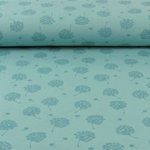 Tricot French Terry dandelion donker mint