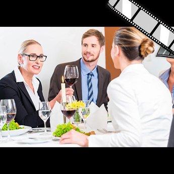 "szenisches Video ""Business Lunch, Kreditvertrag"""