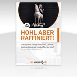 "Awareness-Plakat ""Hohl aber raffiniert!"" - Motiv rund"