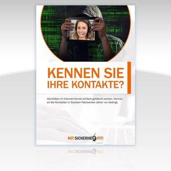 """Awareness-Plakat """"Kennen Sie Ihre Kontakte?"""" - Motiv rund"""