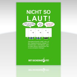 """Awareness-Plakat """"Achtung, nicht so laut!"""" - einfarbig"""