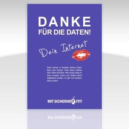 """Awareness-Plakat """"Danke für die Daten!"""" - einfarbig"""