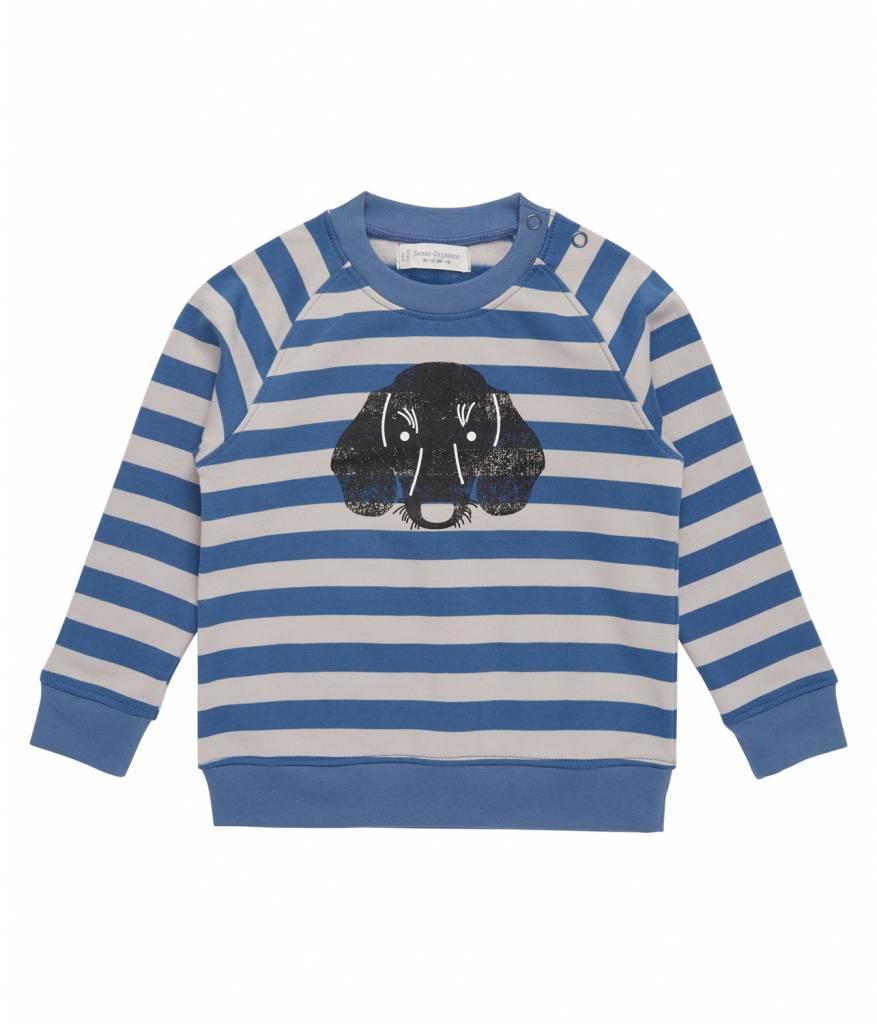 Sense Organics Sense Organics Sweater Taio mit Hundedruck