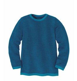 Disana Disana Basic Merino-Wollpullover blau/marine