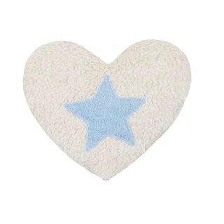 Efie Efie Dinkel-Wäremekissen Herz mit Stern blau