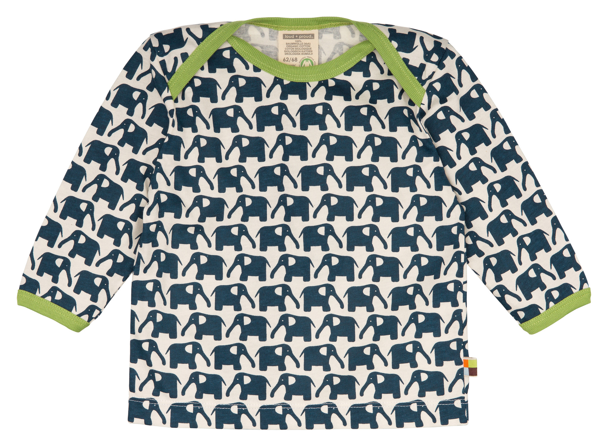 Loud & Proud Loud & Proud Langarm Shirt Elefanten marine