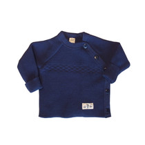 Lilano Lilano Babyhose aus Wollplüsch Ringel marine blau