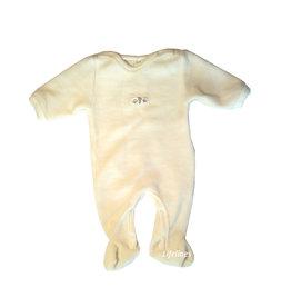Lilano Lilano Babystrampler aus Wollplüsch natur