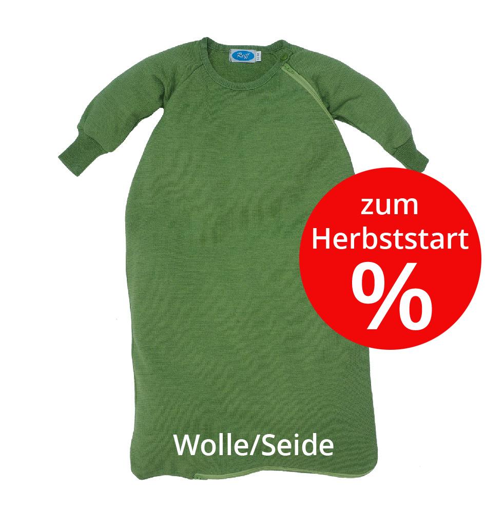 Reläx / Reiff Strick Reiff Wolle/Seide Schlafsack mit Arm für den Übergang