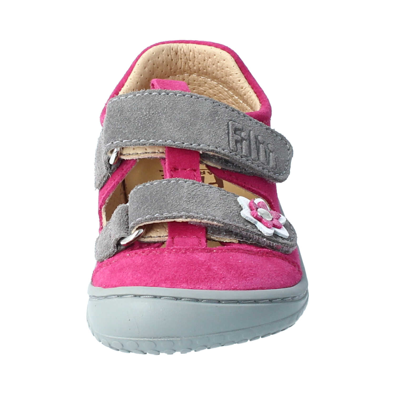 Filii Barefoot Filii Barefoot Sandale Kaiman Velour pink/grey