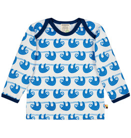Loud & Proud Loud & Proud Langarm Shirt Faultier Cobaltblau