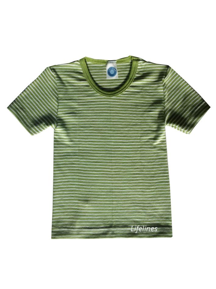 Cosilana Cosilana Wolle/Seide Hemd kurzarm Ringel