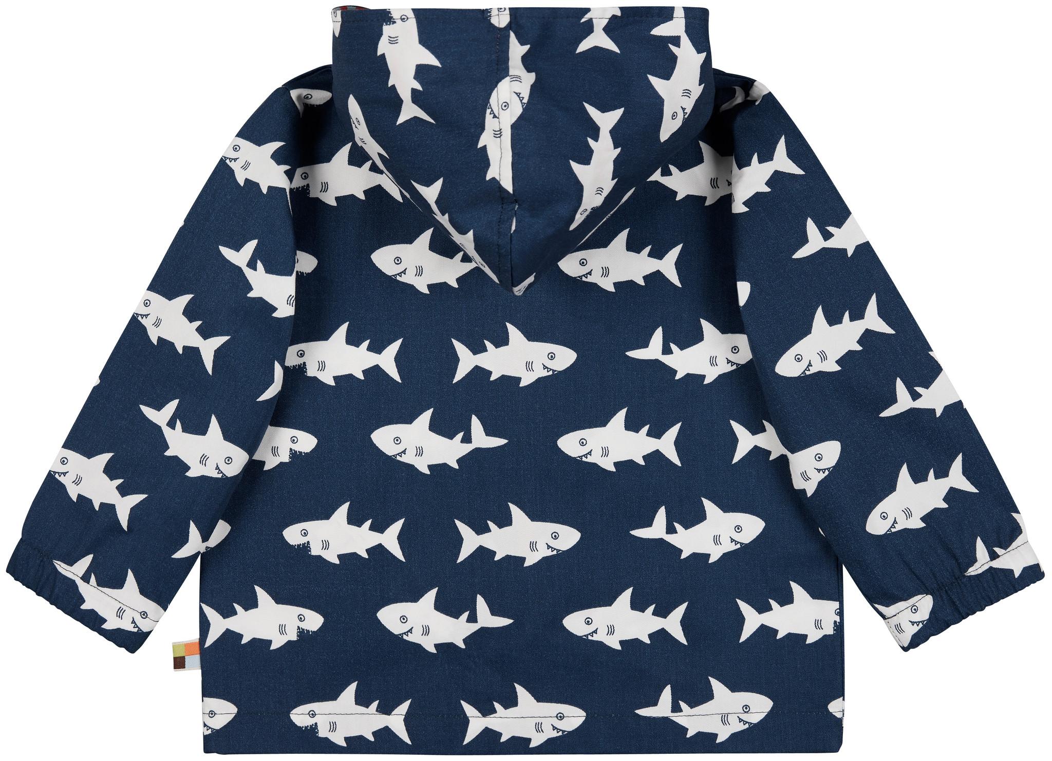 Loud & Proud Wasserabweisende Kinder- Outdoorjacke Haie marine