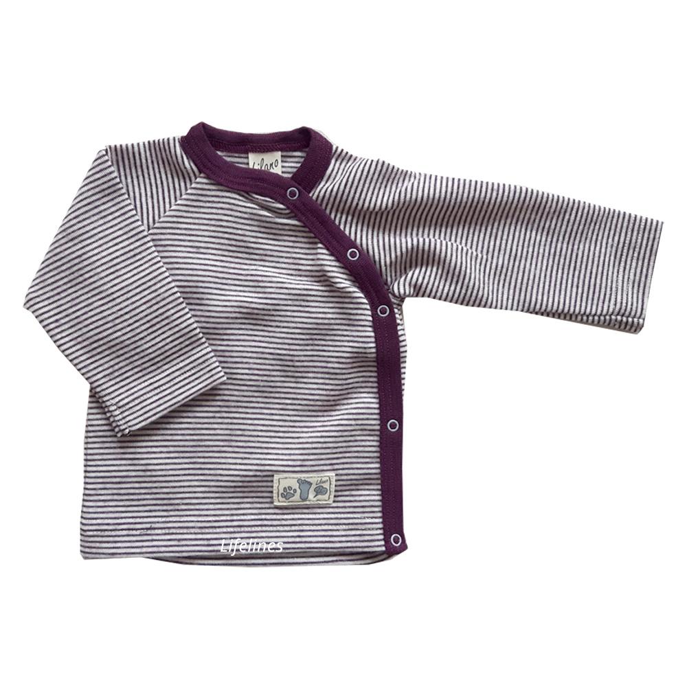 Lilano Lilano Babyjäckchen Wolle/Seide beere Ringel