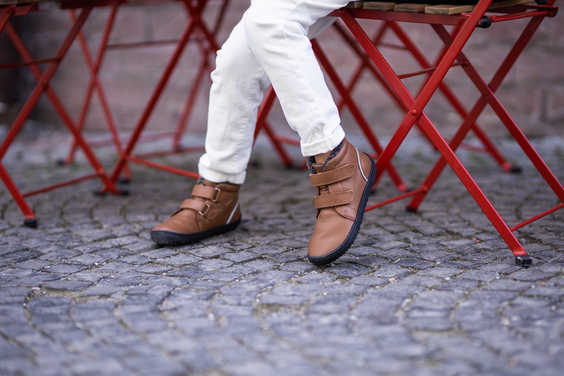 BeLenka BeLenka Barfuß Schuh mit Fleecefutter, chocolate