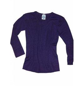 Cosilana Cosilana Wolle/Seide Kinderhemd langarm, pflaume