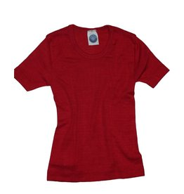 Cosilana Wolle/Seide Hemd kurzarm rot