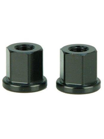 Aluminium zwarte as bouten set 10mm