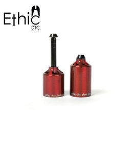 Ethic DTC scooter parts Ethic DTC steel pegs rood
