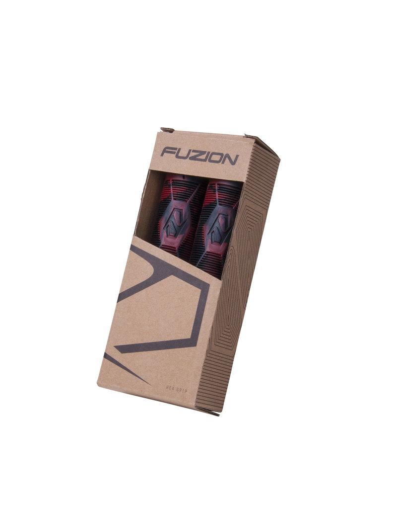 Fuzion pro scooters Fuzion Hex swirl grips zwart rood