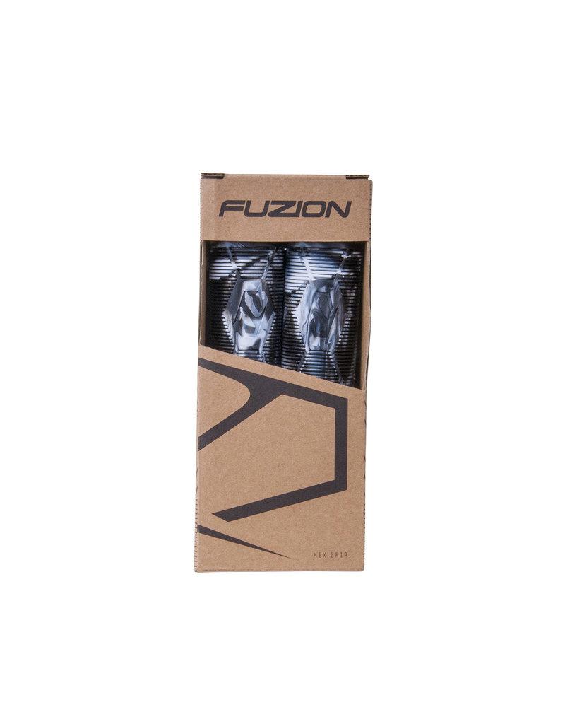 Fuzion pro scooters Fuzion Hex swirl grips zwart wit