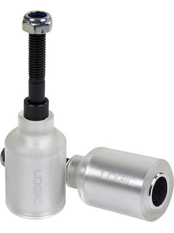 Logic Scooter Pegs With Sleeve Silver