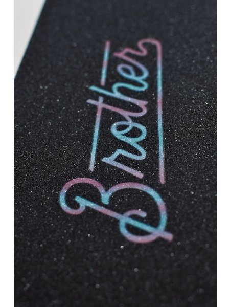 Brother scooters Logo Griptape Rainbow