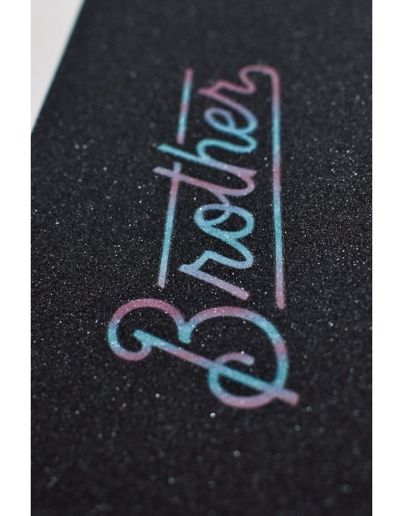 Brother scooters Brother griptape logo rainbow