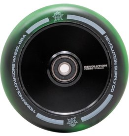 Revolution Revolution Fused Hollowcore wielen 110mm zwart/groen