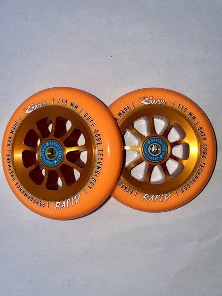 River Natural Rapid Wheels Orange on Orange