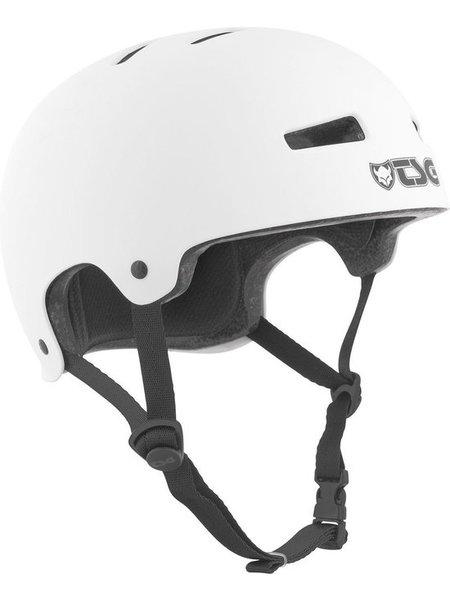 TSG Evolution Helm Solid Satin White