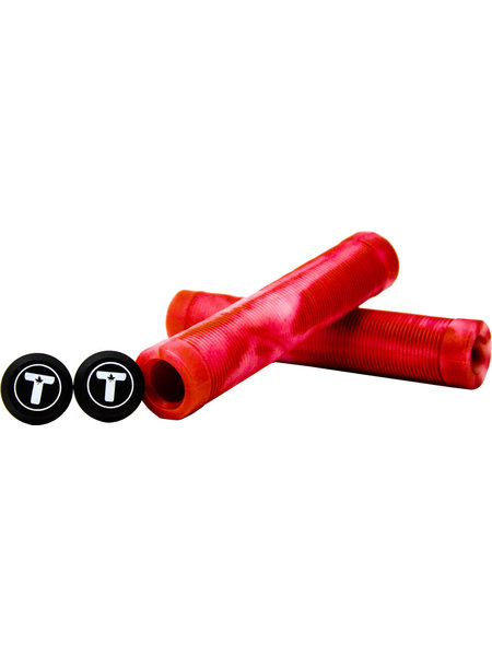 Trynyty scooter parts Swirl Grips Red Transp.