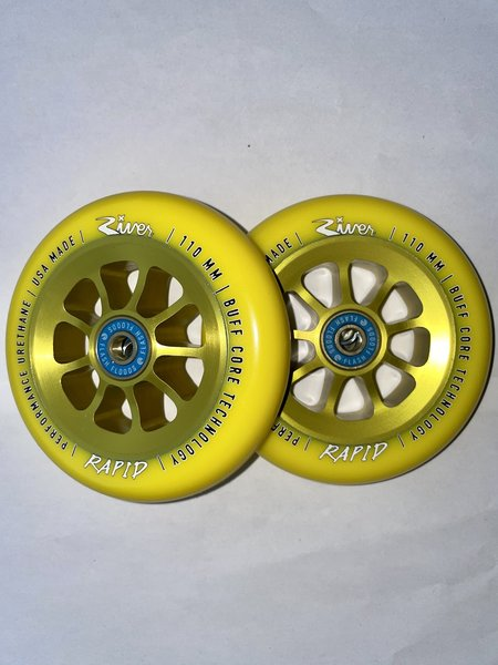 River Natural Rapid Wheels Yellow on Yellow