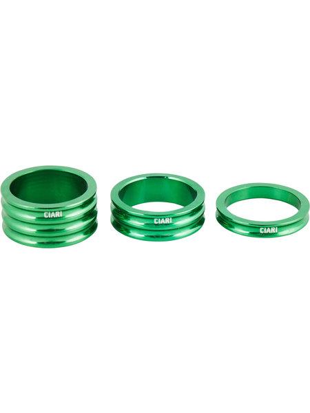 Ciari Anelli Headset spacer set green