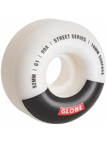 Globe G1 Street Wheels White/Black/Bar