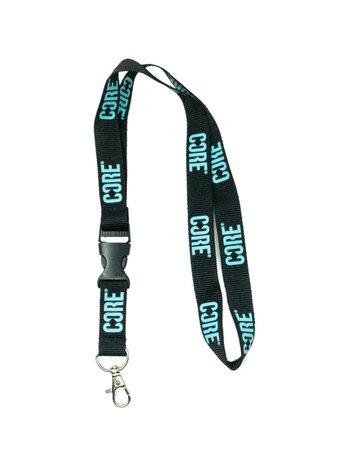 Core Keychain Black Teal