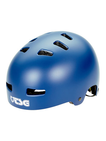 TSG Evolution Helm Solid Satin Blue