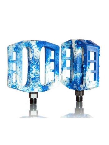 Demolition Trooper PC Pedals White / Blue