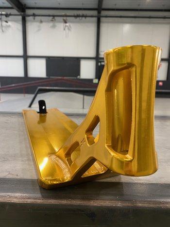 "AO Scooters Bouzid V2 Signature Deck 6.25"" x 22.5"" Gold"