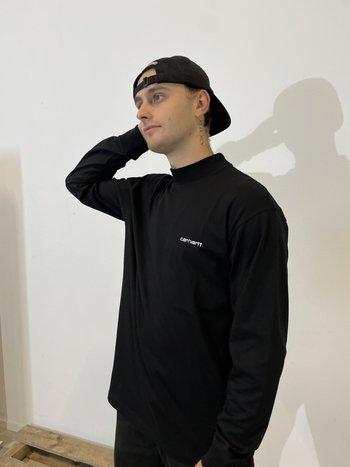 Carhartt WIP Mockneck L/S T-Shirt Black