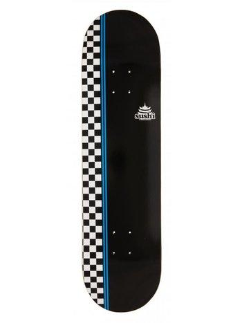 Sushi skateboards Deck Checkered Logo Black