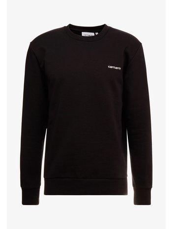Carhartt WIP Script Embroidery Sweat Black/White