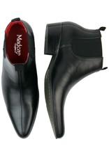 Madcap England Lightfoot Mod Chelsea Boots in schwarzem Leder
