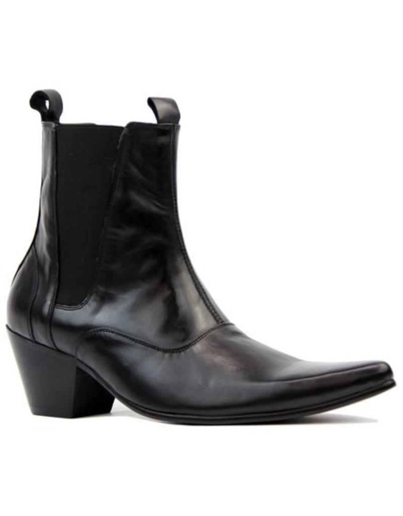 Madcap England Outlaw Mod Chelsea Boots in schwarzem Leder