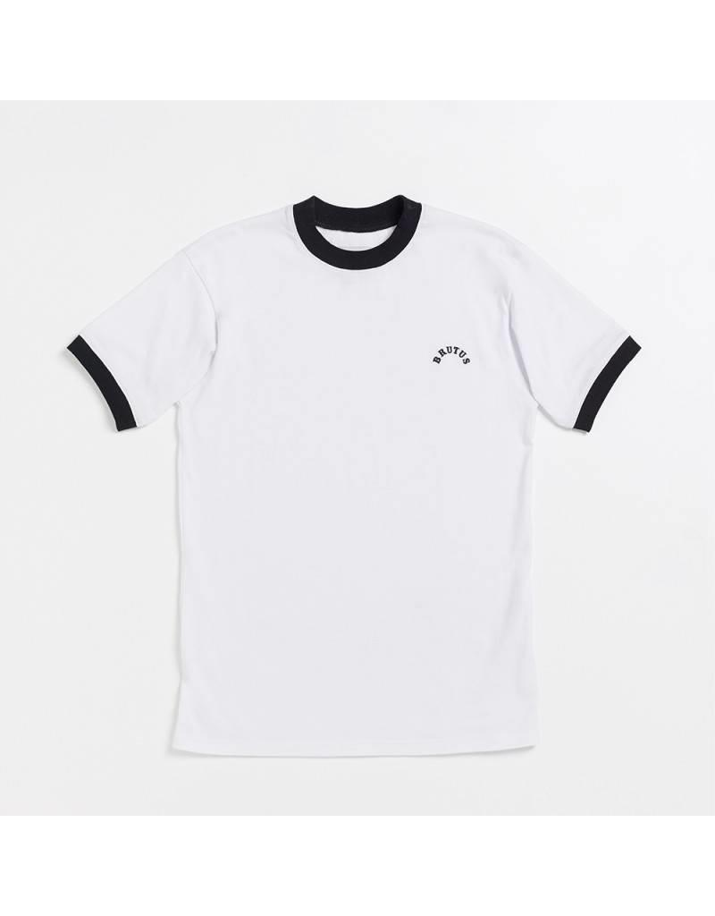 Brutus London White Ringer T-Shirt
